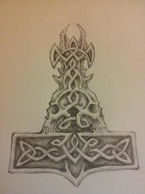 top mjolnir celtic tattoo designs images for pinterest tattoos
