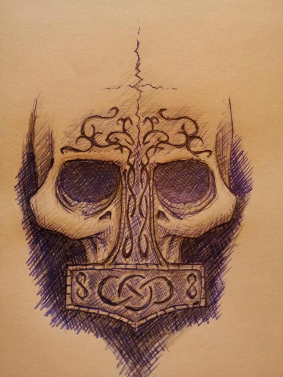 mjolnir, skull by seektroll on DeviantArt