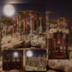 Fantasy Oasis Backgrounds