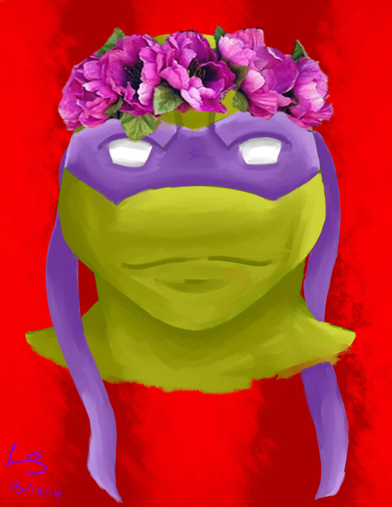 Turltes and Their Flower Crown - Donatello by autobot2