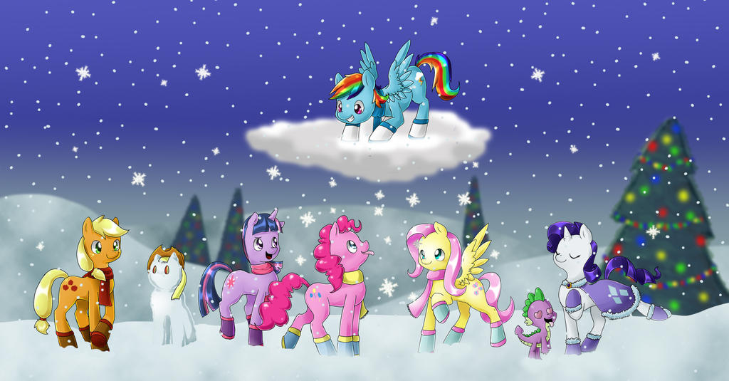 Winter Ponies by PegaSisters82