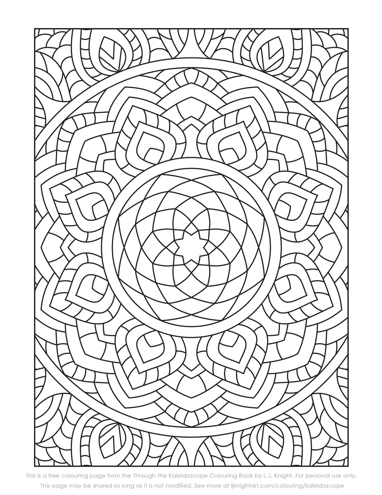 Breathtaking Kaleidoscope Coloring Page | FaveCrafts.com | 1657x1280