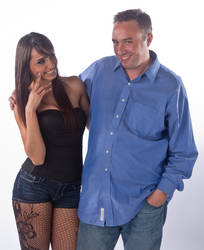Ana And Me At Her Photo Shoot1