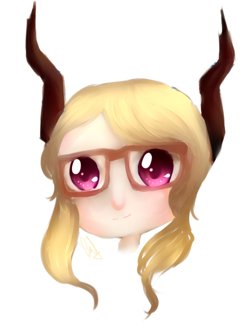 Castanic chibi head by IAkiitha