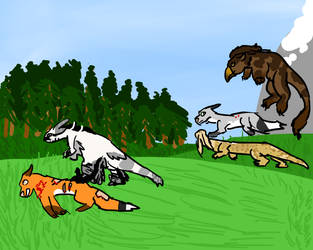 Hunting-fox parade by BluefeatherGaming
