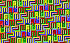 Autism Ambigram Tessellation by BatmanWithBunnyEars