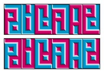 ^pica-ae ambigram by BatmanWithBunnyEars