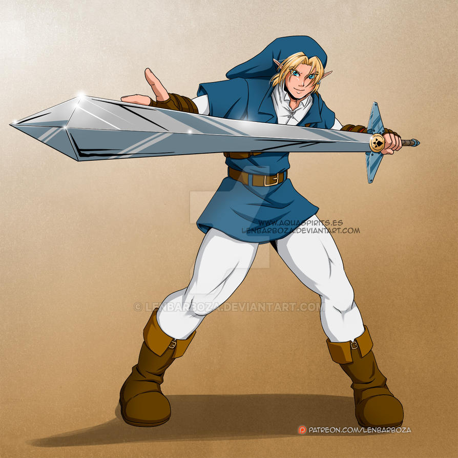 Chara: Link OoT Goron Blade by LenBarboza