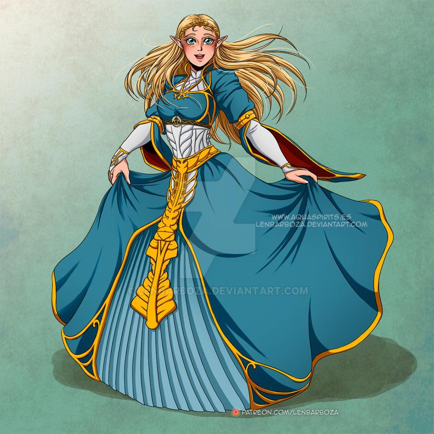 Zelda Hime - BOTW by LenBarboza