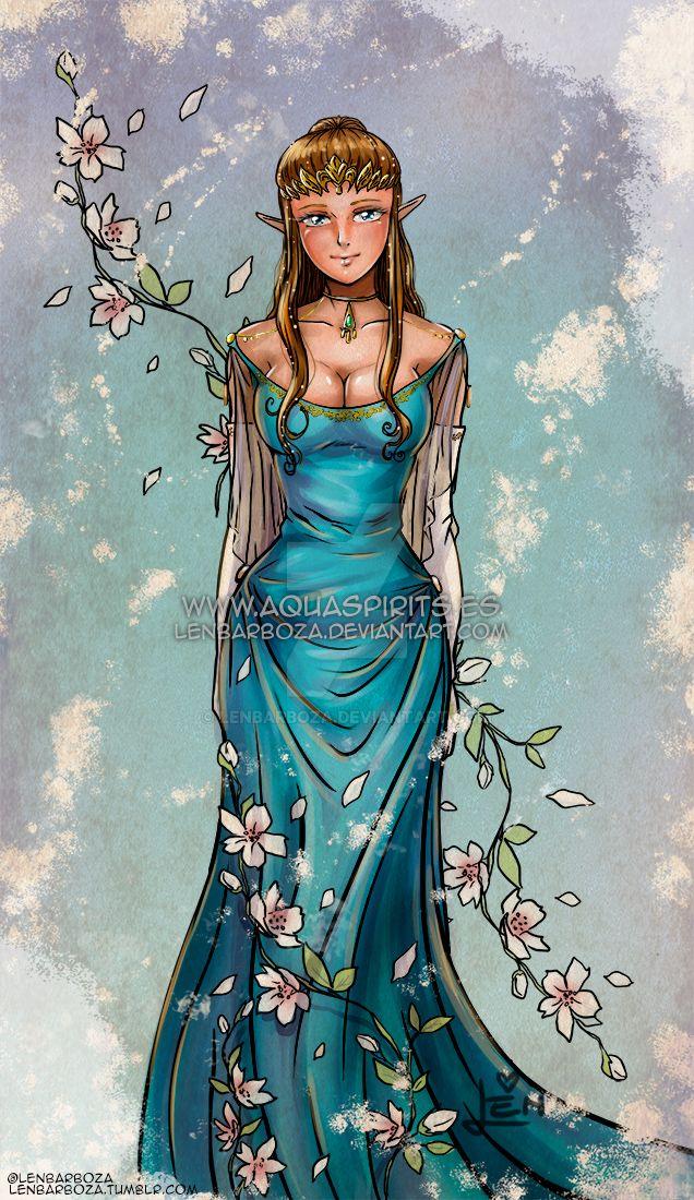 Blue Queen Zelda by LenBarboza