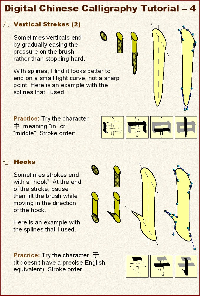 Chinese calligraphy tutorial by electric raichu on