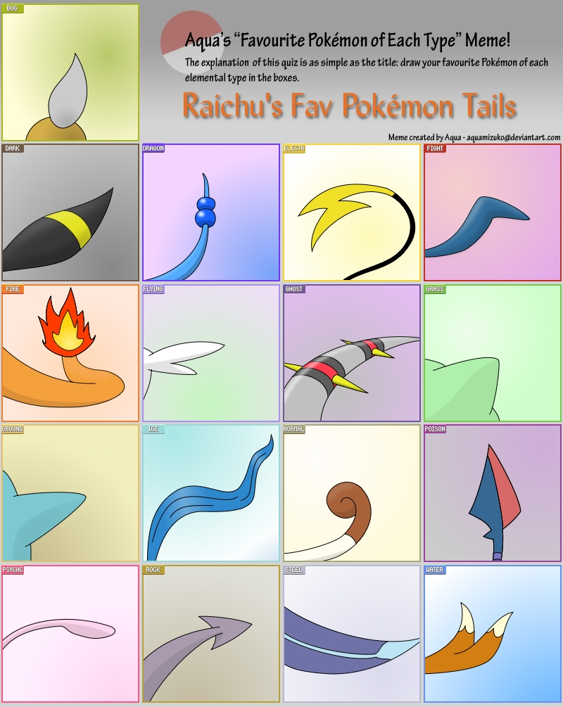 Pokemon Type Meme Tails
