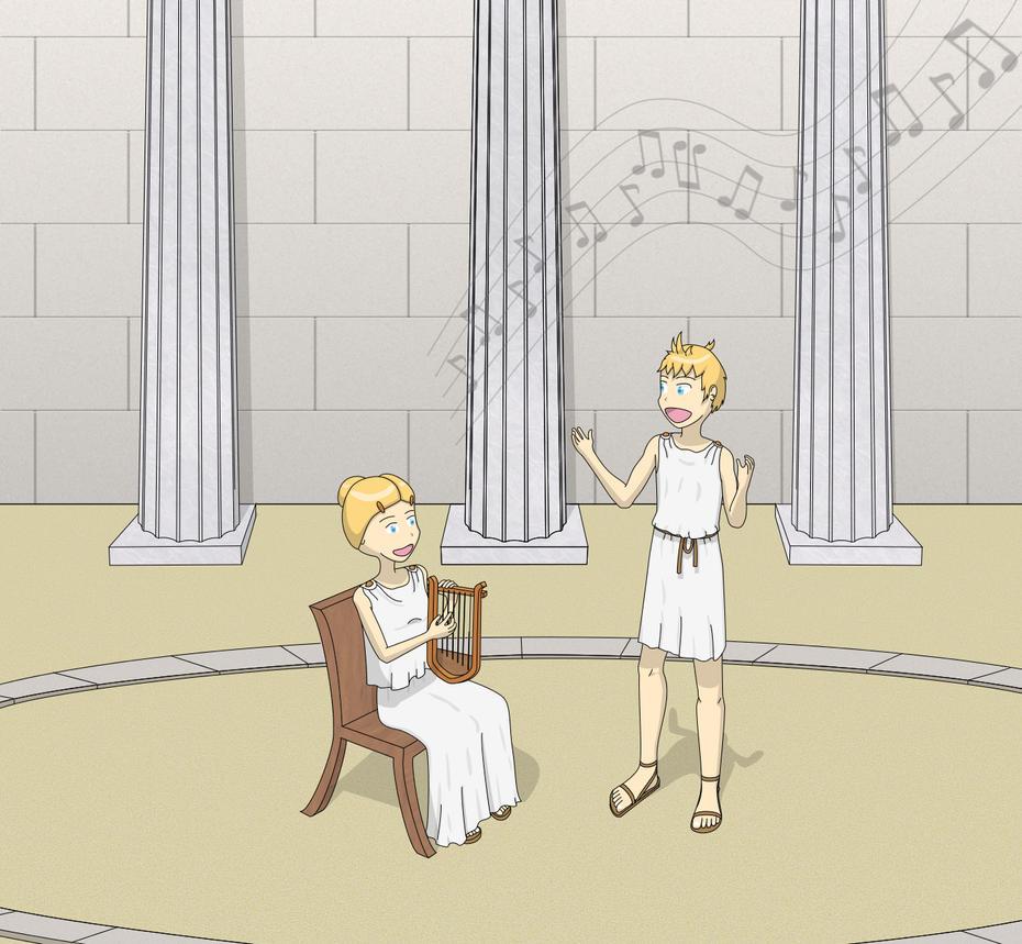 Loids at the Amphitheatre by Electric-Raichu
