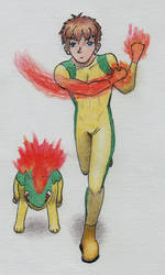 Quill and Cinder as superheroes 2: fighting