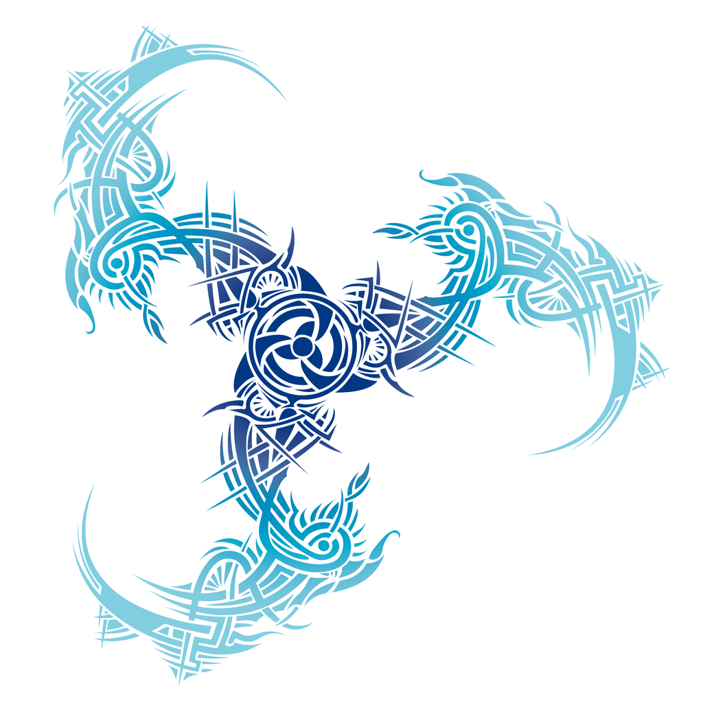 Tribal Tattoo With Color: Tribal Trinidad Color Blue By Irina-Baiken On DeviantArt