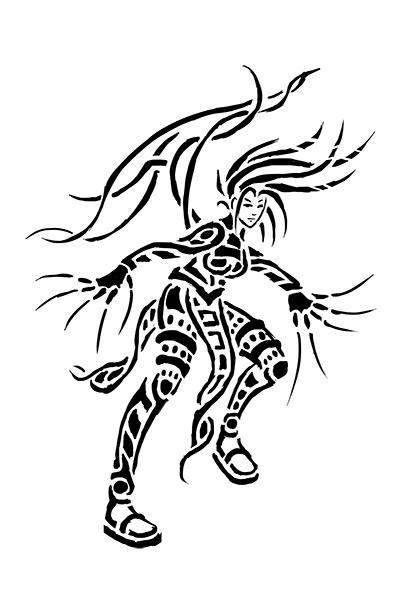 Tribal speed women warrior by Irina-Baiken on DeviantArt