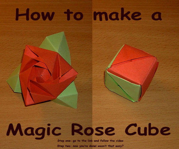 How To Make An Easy Origami Magic Rose Cube