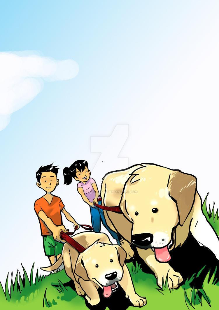 Dog Lover's Book Cover by terapikomik