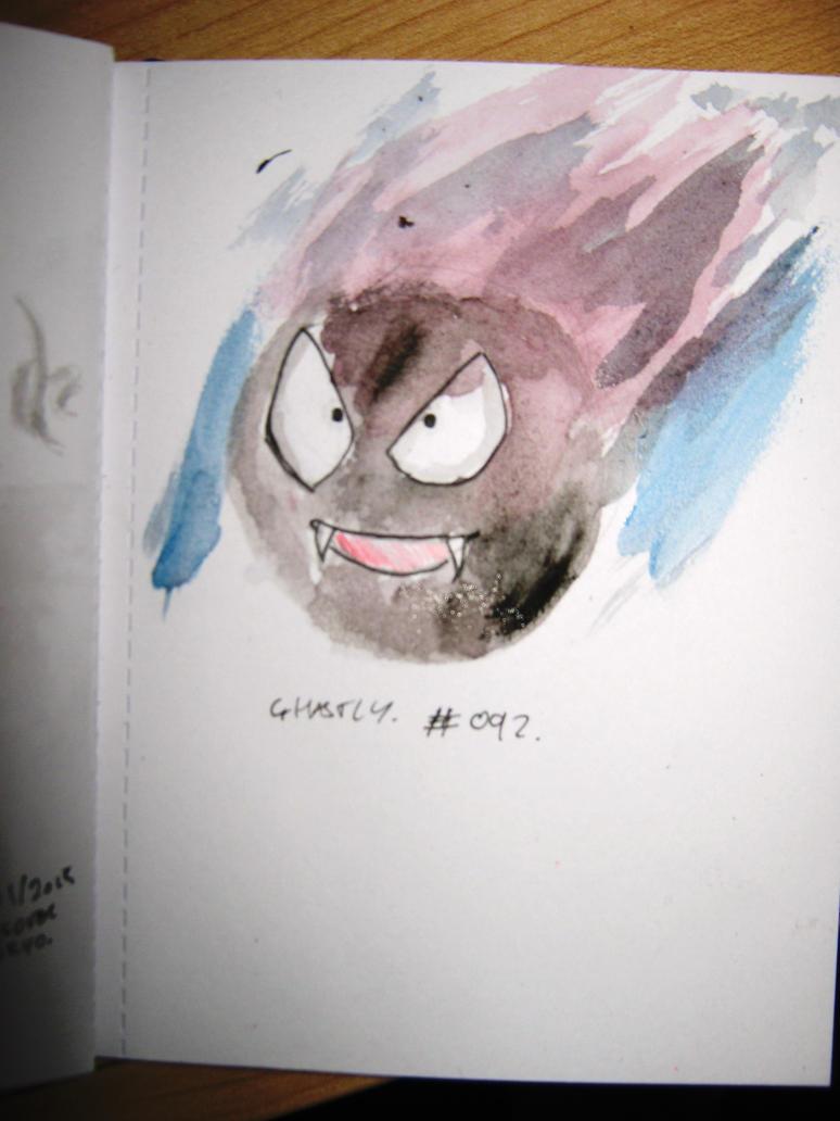 #092-Gastly. by FenrisTheWolfBoy