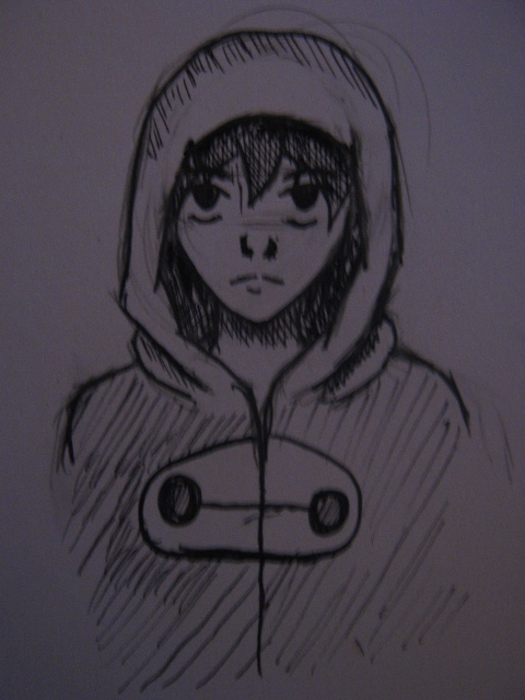 365 Days of Drawing #53 (Hero/Hiro 2:Raining...) by FenrisTheWolfBoy