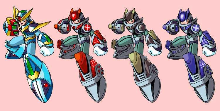 Rockman Armor Series X 7-8 by kagami5566