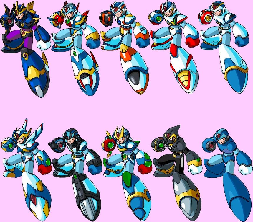 Rockman Armor Series X 1-6 by kagami5566