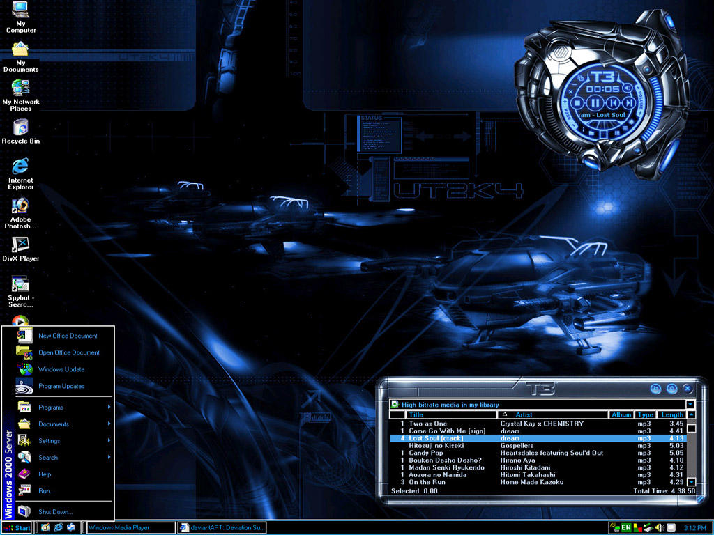 machine blue desktop theme by kagami5566