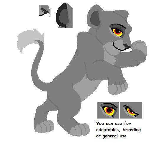 Cutie Lioness Cub Base By MerlynsMidnight On DeviantArt