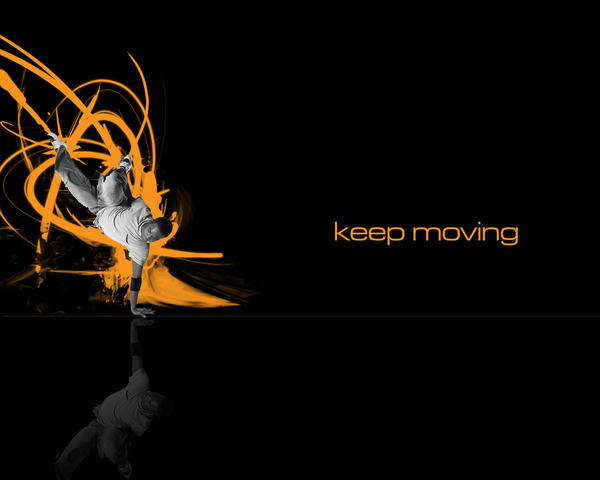Keep Moving Orange Version by itsyouforme