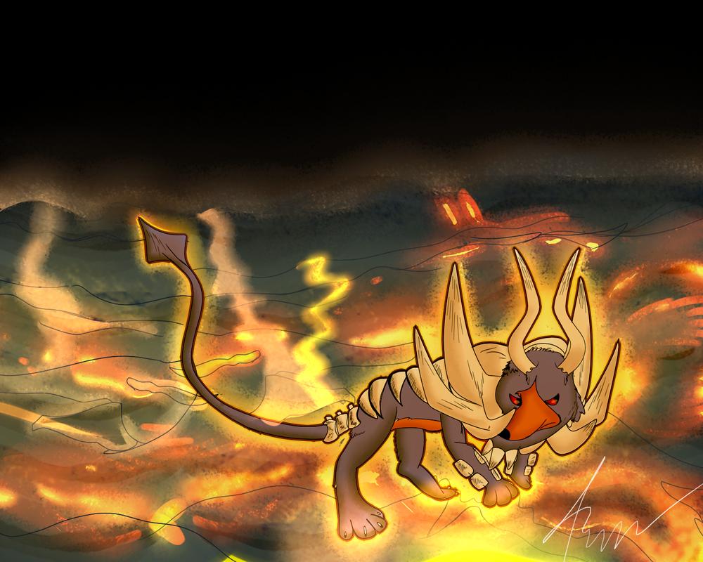 Shiny Mega Houndoom by Shadow-Pikachu6