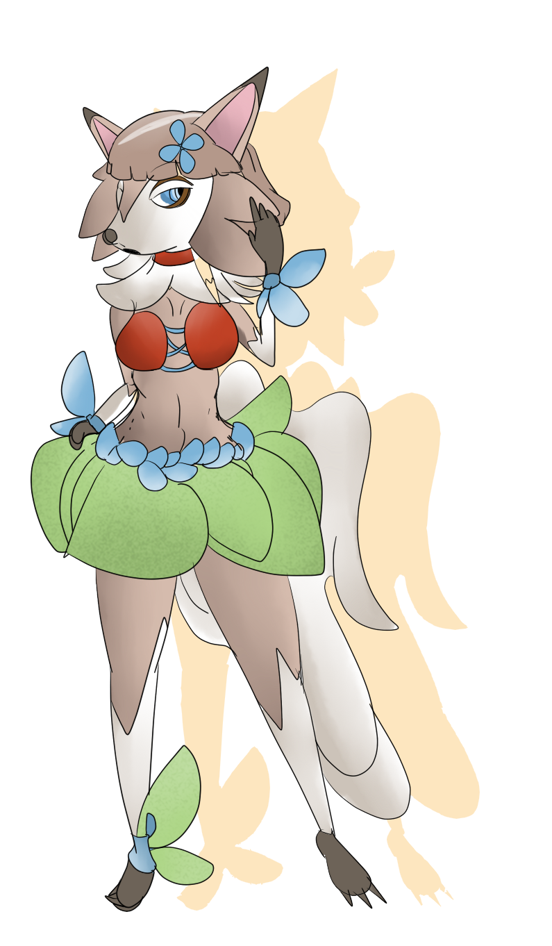 Comm: Hula Lycanroc (Midday Form) by Shadow-pikachu7 on DeviantArt