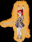 Scorbunny Samurai Warrior by Shadow-pikachu7