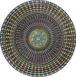 Circle in stained glass