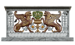 Balcony with griffins,Medieval style