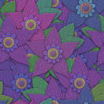 Paper flowers seamless texture
