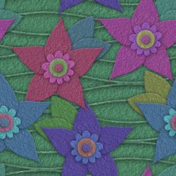 Paper flowers seamless texture 3 by jojo-ojoj
