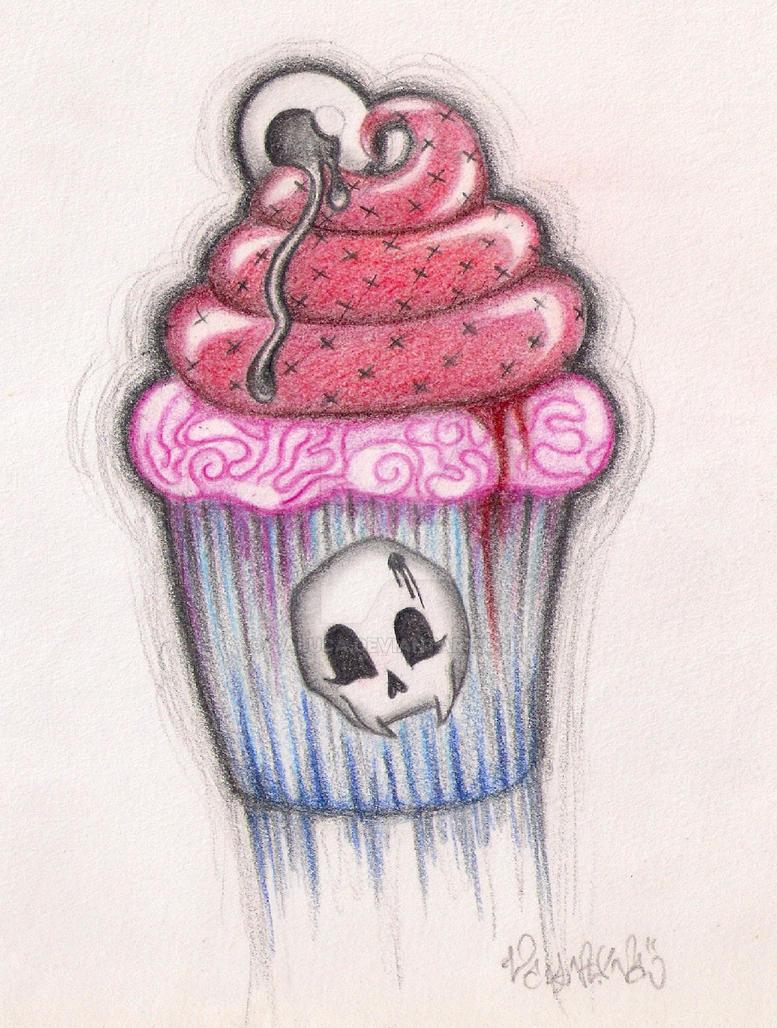 zombie cupcake by valuca
