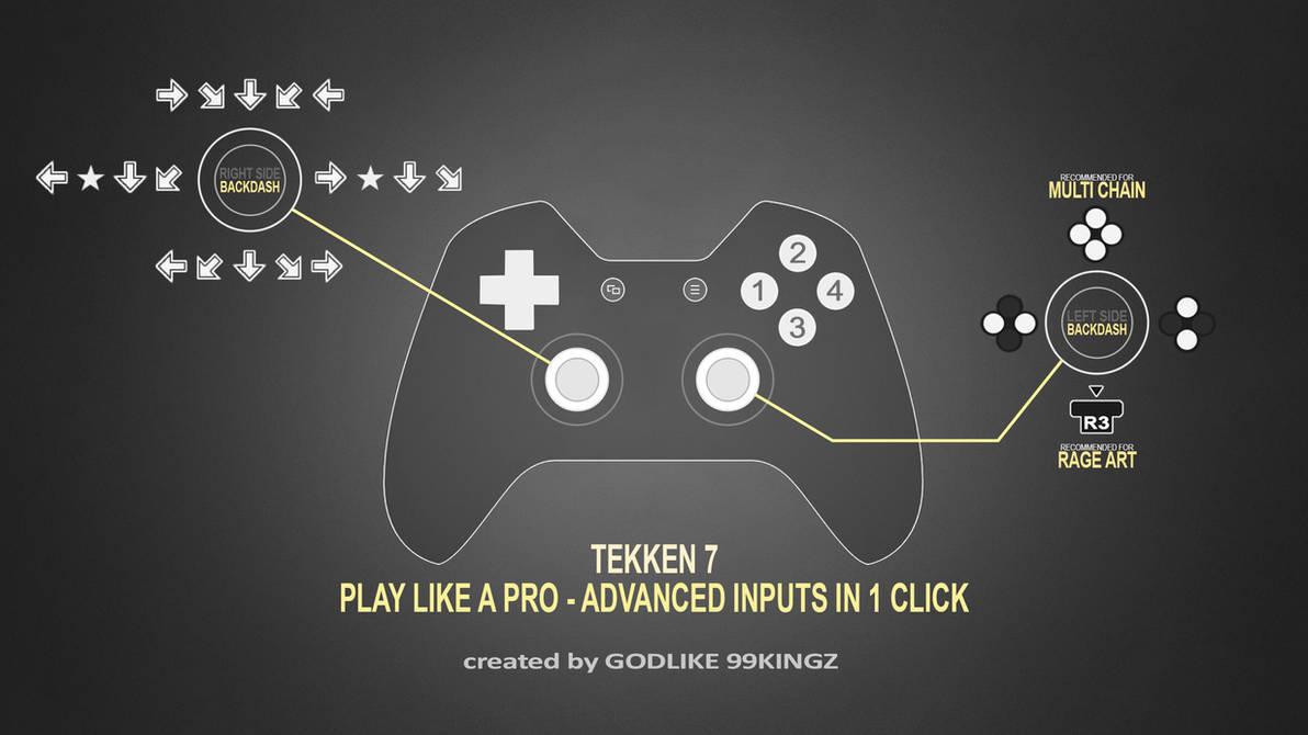 TEKKEN 7 - Play like a PRO - Multi Inputs in 1 Tap by GODLIKE99KINGZ