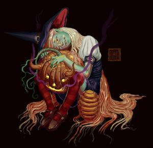 Honeybuckle and her Devil-Pumpkin (request)
