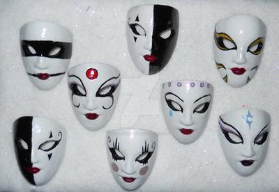 Kabuki Masks by Thirteenbday