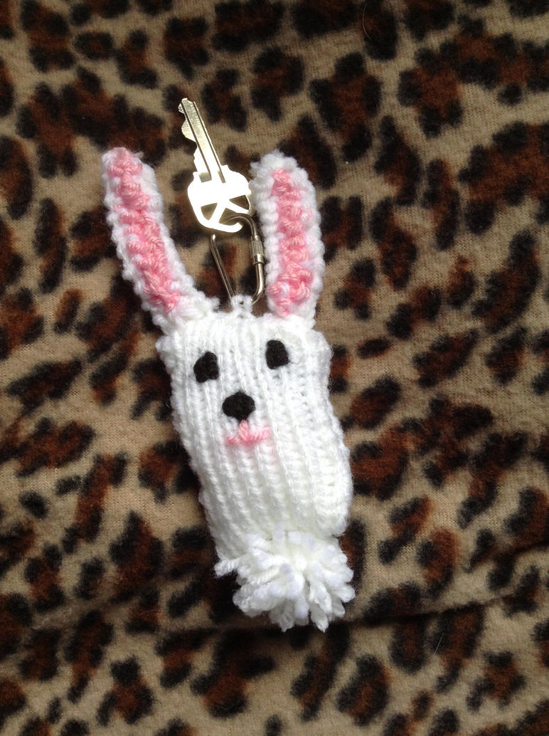 Bunny Rabbit Keychain by lovelywatermoon