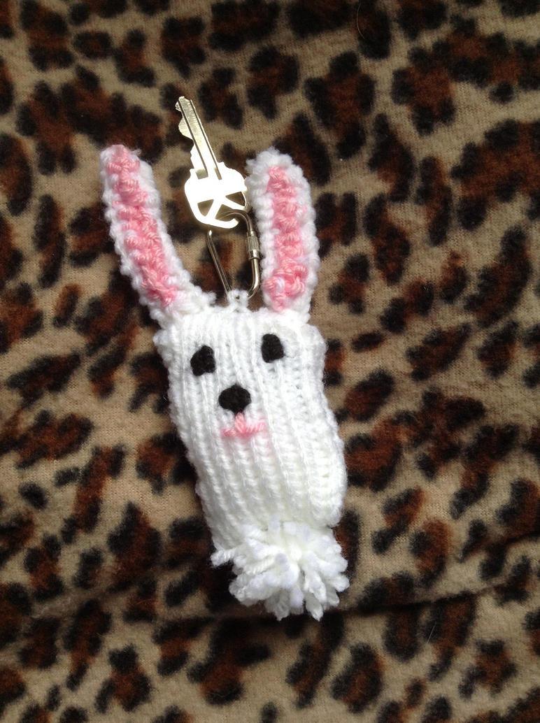 Bunny Rabbit Keychain by DarkFoxWarriorX