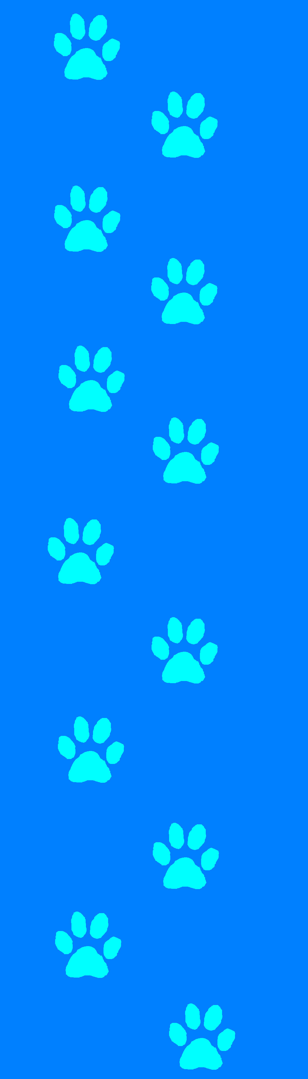 Blue Dog paw print Custom box background by Kawaii-0kami ...