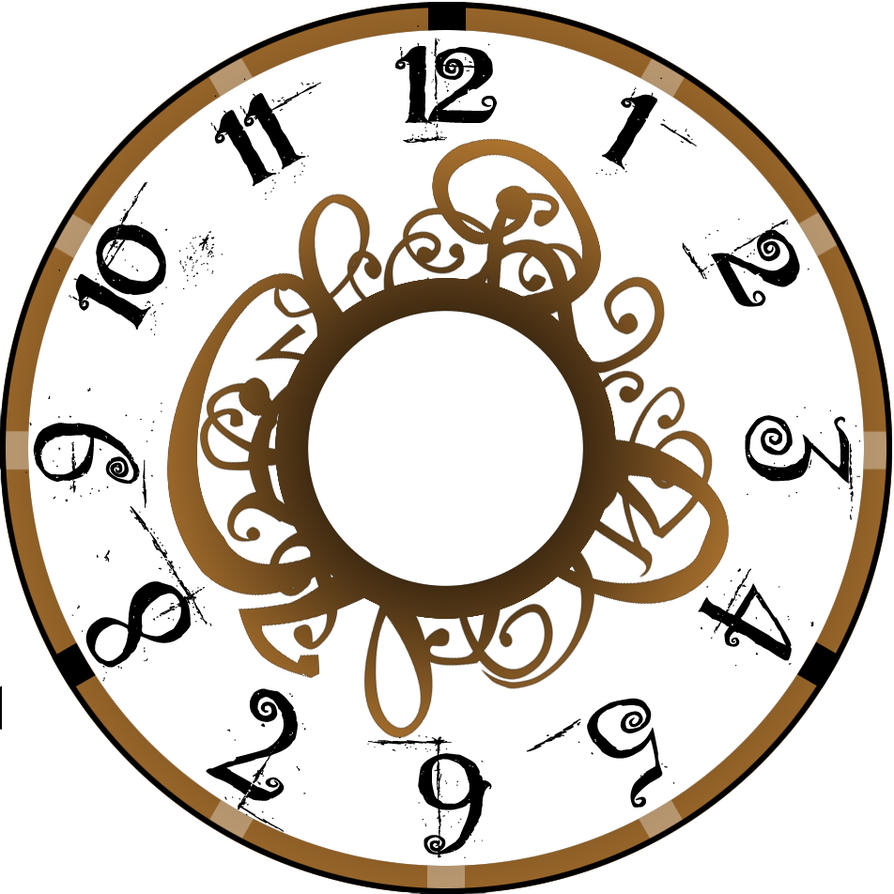 Brown curly clock face by randomnepo on deviantart brown curly clock face by randomnepo pronofoot35fo Choice Image