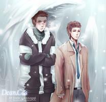 Art_trade_Dean_Cas by shikakashi