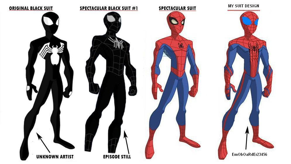 Spiderman Suits Through The Years The spectacular spider man