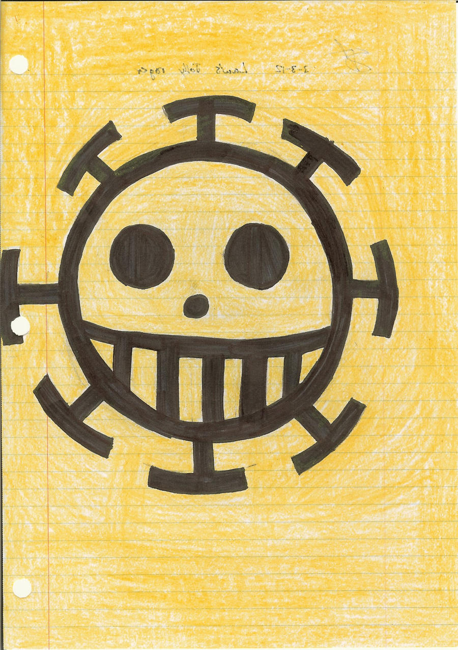 Trafalgar Law's jolly roger by Roronoalizheart on deviantART