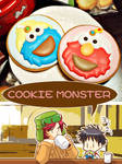 SP?: COOKIE MONSTER by sakurapanda