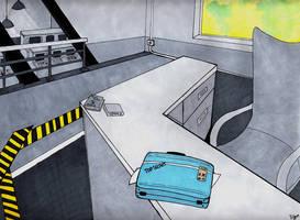 TF2: Blu Intel Room by SuddenlyNixon