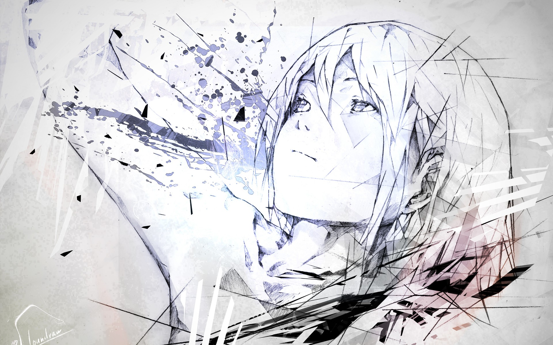 Sketches artwork anime girls by eameirol21